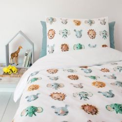 Single Bed Duvet Cover | Wild Animals