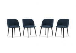 Chair Antheia Set of 4 | Dark Blue