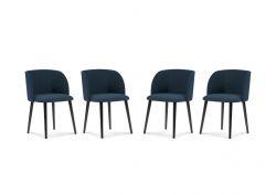 Stuhl Antheia 4er-Set | Dunkelblau