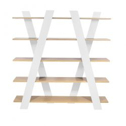 Shelving Unit Wind | White/Oak