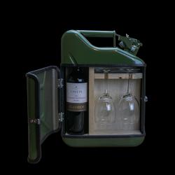 Coffret Cadeau Jerrycan Bar Vin 10 L | Vert