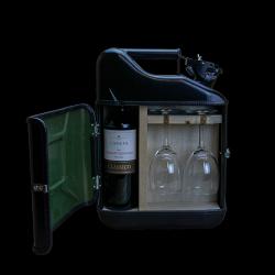 Geschenkpaket Jerrycan Bar Wein 10 L | Schwarz