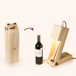 2-in-1 Wine Storage Box & Table Light Wine Light