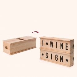 2-in-1 Weinkiste & Briefkasten Wine Sign