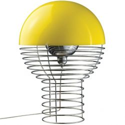 Wire Table Lamp Large Yellow