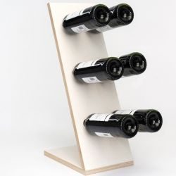 Wine Rack Compact Six | White