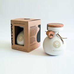 Organic Extra Virgin Olive Oil | White, cardboard packaging