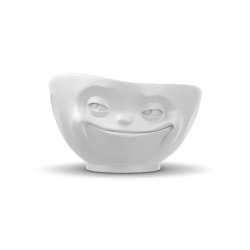 Bowl Grinning 500 ml | White