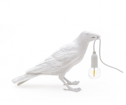 Lamp Bird  Waiting | White