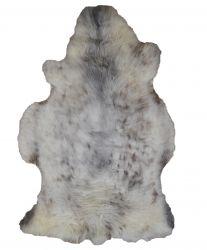 Einzigartiges Schafsfell | Creme/Grau
