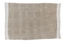 Teppich Wolle Africa Collection Shuka | Sandfarbig