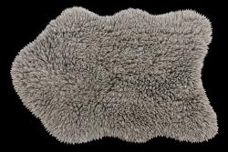 Teppich Woolable Woolly 75 x 110 cm | Grau