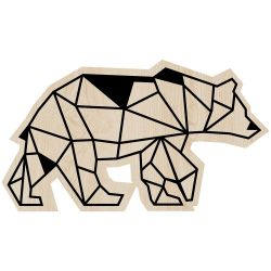 Wall Decoration Bear | Light Wood
