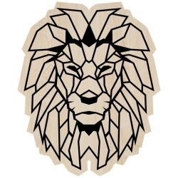 Wall Decoration Lion | Light Wood