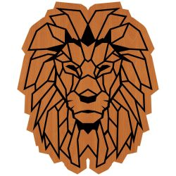 Wall Decoration Lion | Light Brown
