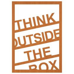 "Wall Decoration ""Think Outside The Box"" 
