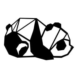 Wall Decoration Panda | Black