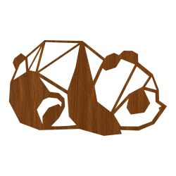 Wall Decoration Panda | Dark Wood