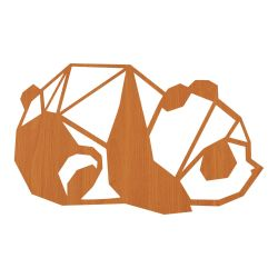 Wall Decoration Panda | Light Wood