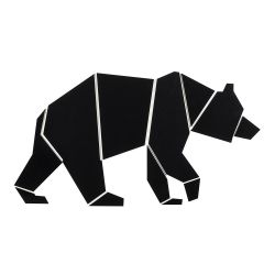 Wall Decoration Bear | White/Black