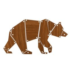 Wall Decoration Bear | White/Light Brown