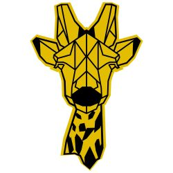 Wall Decoration Giraffe | Yellow/Black