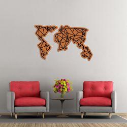Wanddekoration Weltkarte | Helles Holz