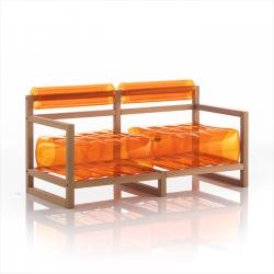 Kanapee Yoko-Holz | Orange