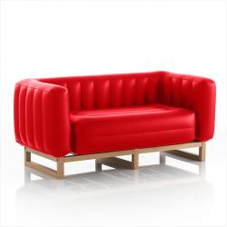 Kanapee-Jomi-Holz | Rot