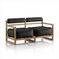 Canape Yoko Wood | Transparentes Schwarz