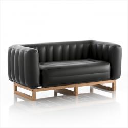 Canape Yomi-Holz | Transparentes Schwarz