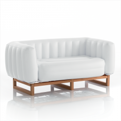Kanapee-Jomi-Holz | Weiß