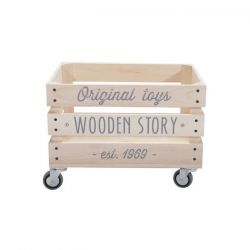 Storage Crate Wheels 1 | Wooden Story