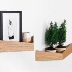 Shelves Medium + Large Set of 2 Pelican | Oak