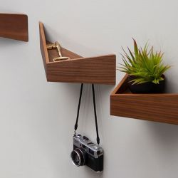 Shelves Medium + Large Set of 2 Pelican | Walnut