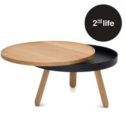 2nd Life | Coffee Table with Storage Space Batea Medium | Oak & Black