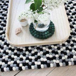 Rectangular Rug | Black & White