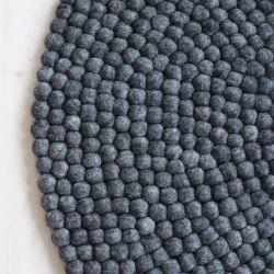 Round Rug | Charcoal Grey
