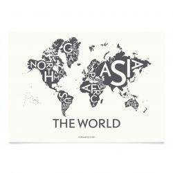 Die Welt Poster | Grau
