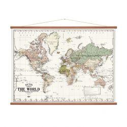 Vintage Weltkarte | Weiß