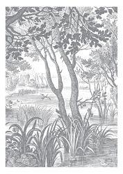Wandtapete Engraved Landscapes 4 Blätter
