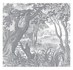 Wandtapete Engraved Landscapes 6 Blätter