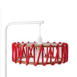 Lampadaire Macaron 45 cm | Blanc / Rouge