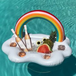 Inflatable Beverage Holder | Rainbow
