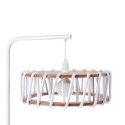 Lampadaire Macaron 45 cm | Blanc / Blanc