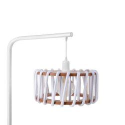 Lampadaire Macaron 30 cm | Blanc / Blanc