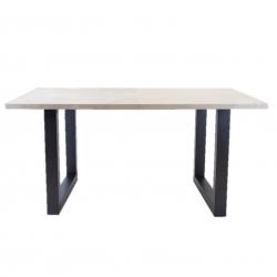Breazz Leder Tisch U-Rahmen | Grau - 180x90cm