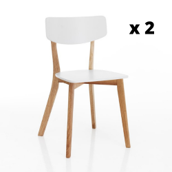 Dining Chair Varm Set of 2 | White