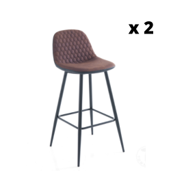 High Chair Gale Set of 2 | Brown