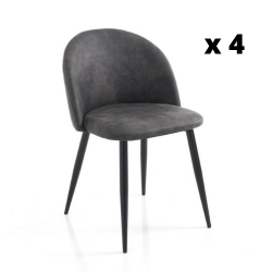 Dining Chair New Kelly Set of 4 | Grey